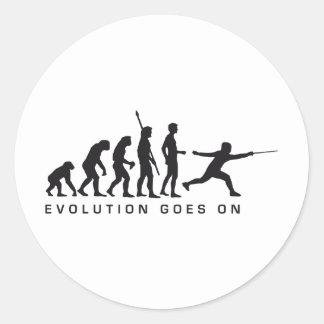 evolution more fencer classic round sticker