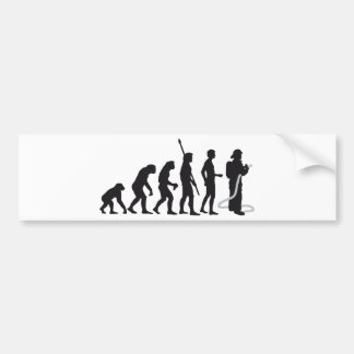 evolution more firefighter bumper sticker