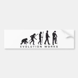 evolution more jackhammer more worker bumper sticker