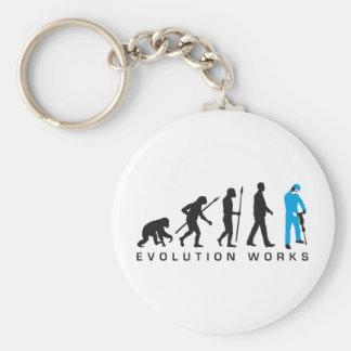 evolution more jackhammer more worker keychain