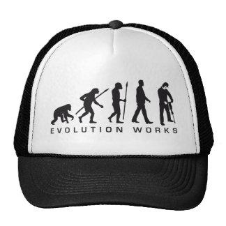 evolution more jackhammer more worker trucker hat