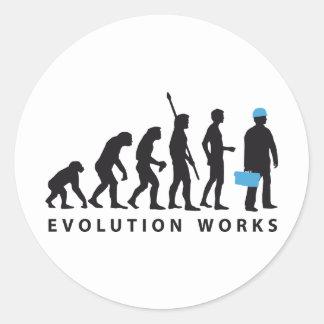 evolution more manufacturer classic round sticker