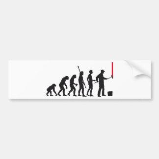 evolution more painter bumper sticker