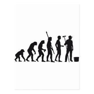 evolution more painter postcard