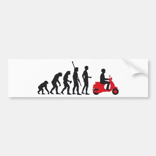 evolution more scooter bumper stickers