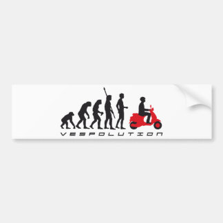evolution more scooter bumper sticker