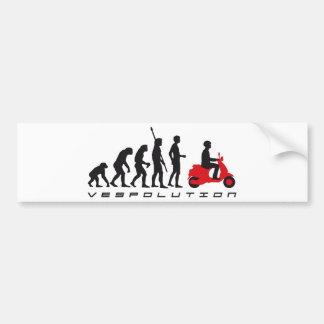 evolution more scooter bumper sticker