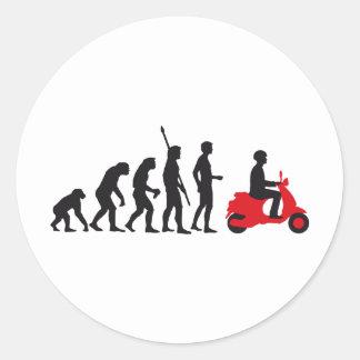 evolution more scooter classic round sticker