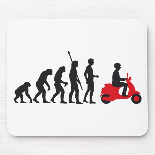 evolution more scooter mousepads