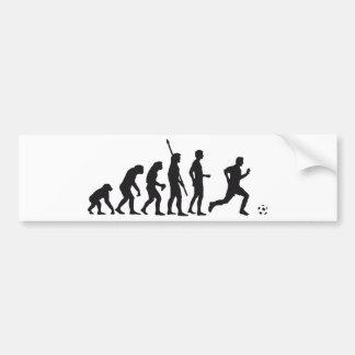 evolution more soccer bumper sticker