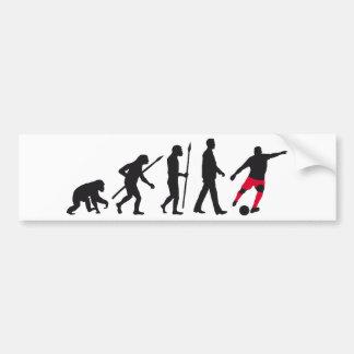 evolution more soccer more player bumper sticker