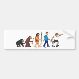 evolution more soccer more player comic bumper sticker