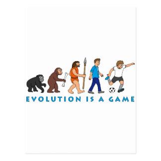 evolution more soccer more player comic postcard