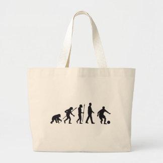 Evolution more soccer more player large tote bag