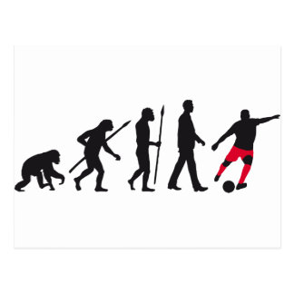 evolution more soccer more player postcard
