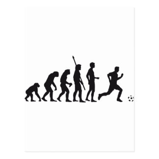 evolution more soccer postcard