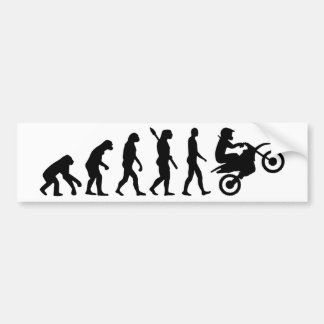 Evolution motocross bumper sticker