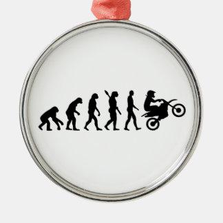 Evolution motocross metal ornament
