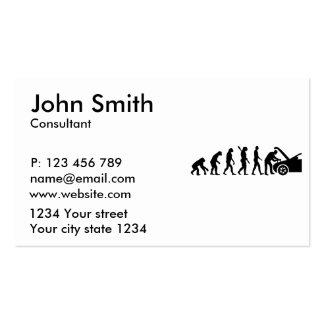 Evolution motor mechanic business card