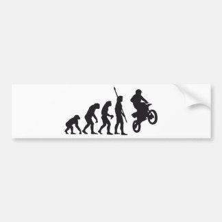 evolution motorbike bumper sticker