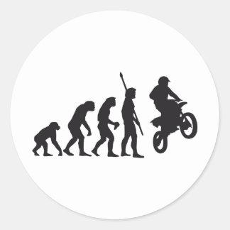 evolution motorbike classic round sticker
