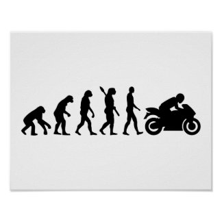 Evolution motorcycle poster