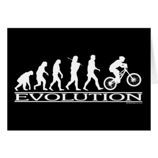 Evolution - Mt Biking Greeting Cards