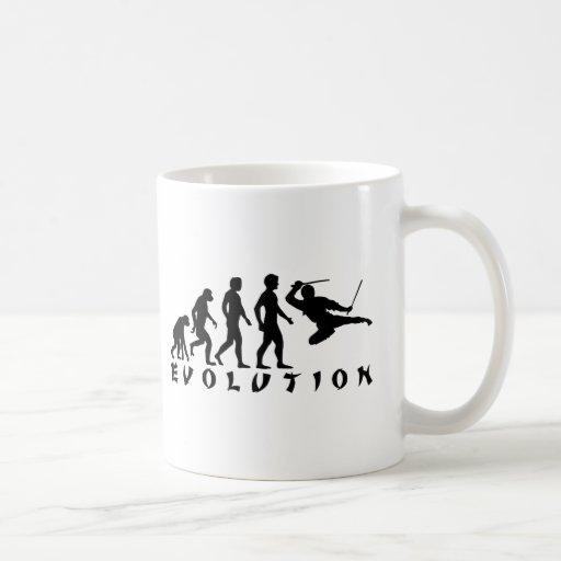 evolution Ninja Classic White Coffee Mug