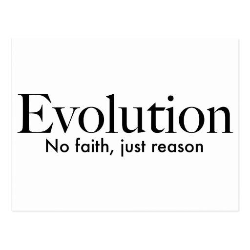 Evolution: no faith, just reason postcard