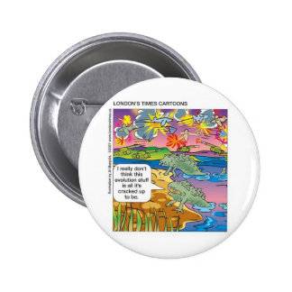 Evolution Not So Great Funny GiftsTees Collectible 2 Inch Round Button