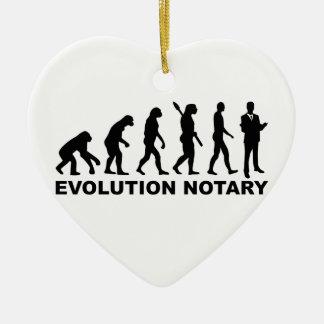 Evolution notary ceramic ornament