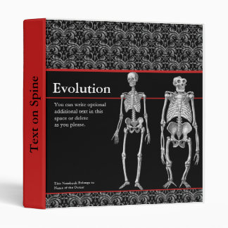 Evolution Notebook with Human and Ape Skeletons Binder
