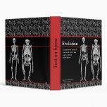 Evolution Notebook with Human and Ape Skeletons Vinyl Binder