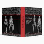 Evolution Notebook with Human and Ape Skeletons Vinyl Binders