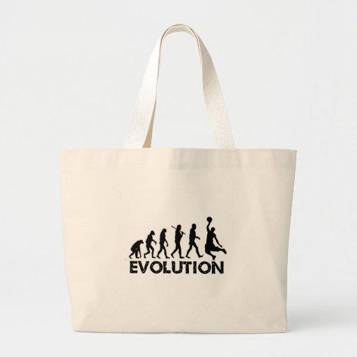 Evolution of a Basketball Player Jumbo Tote Bag