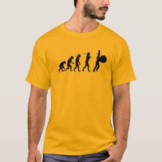 Evolution of a Bass Drummer (light colors) T-Shirt