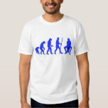 Evolution of a cajon player - blue T-Shirt