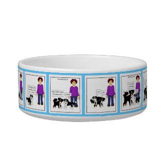 Evolution of a Canine Friendship-pet bowl (color) Cat Bowl