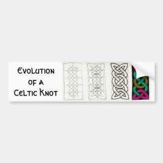 Evolution of a Celtic Knot bumpersticker Bumper Sticker