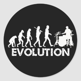 Evolution of a Drummer Stickers