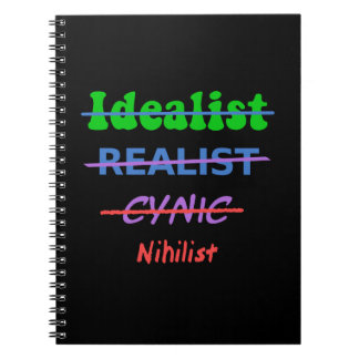 Evolution Of A Nihilist Spiral Notebook