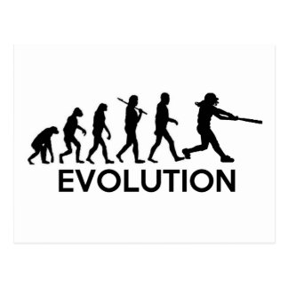 Evolution of a Softball Player Postcard