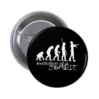 evolution of a zombie 2 inch round button