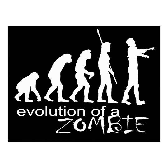 evolution of a zombie postcard