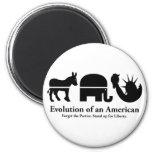 Evolution of an American Fridge Magnets