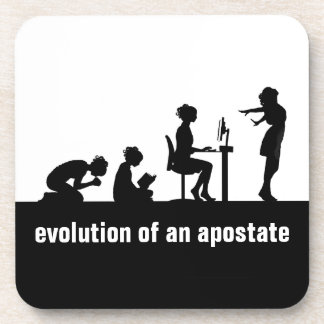 """Evolution of an Apostate"" Beverage Coaster"