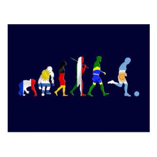 Evolution of Argentinian soccer Argentina futbol Postcard