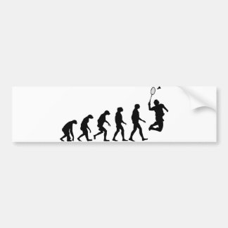 Evolution of Badminton Bumper Sticker