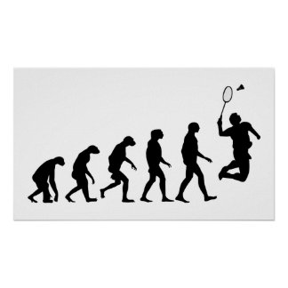 Evolution of Badminton Poster