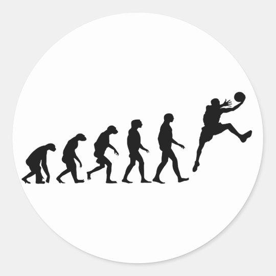 Evolution of Basketball Classic Round Sticker